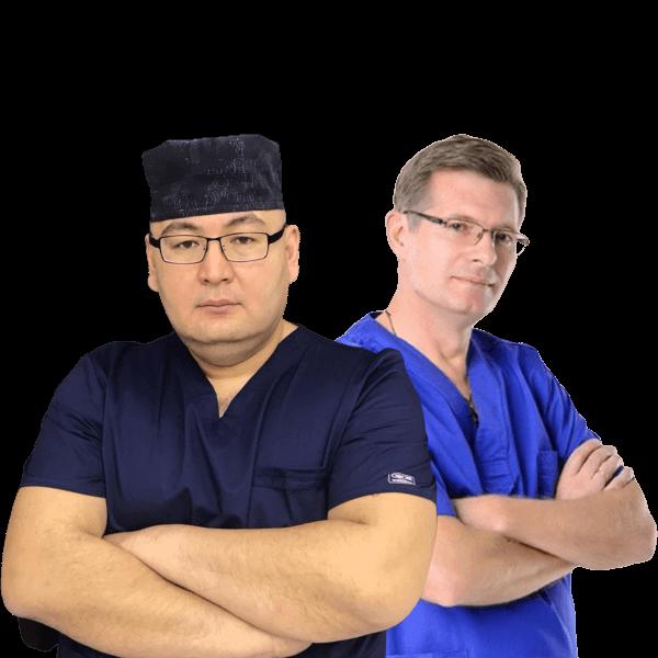 Dr. Viktor Vovk and Dr. Altay Zhumabekov (Kazakhstan)
