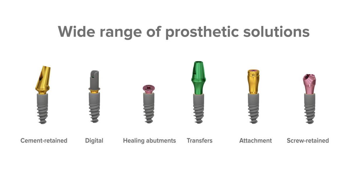 ROOTT R range of prosthetic solutions